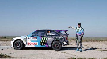Ken Block geeft zijn nieuwe Ford Escort RS Cosworth een shakedown