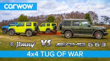Suzuki Jimny & Mercedes-AMG G63 houden Tug of War