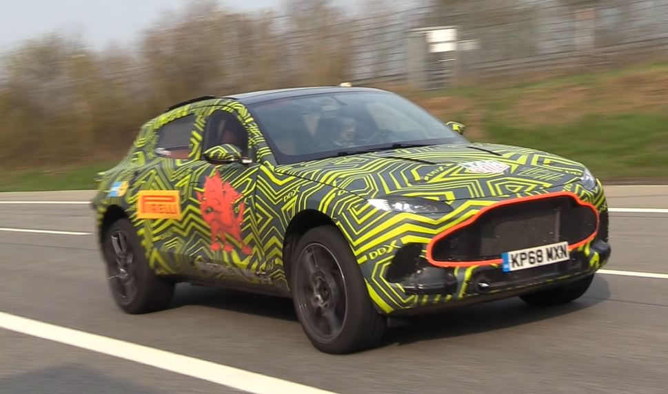 Aston Martin DBX SUV gespot