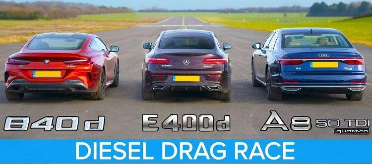 BMW 840d vs Mercedes E400d vs Audi A8 TDI