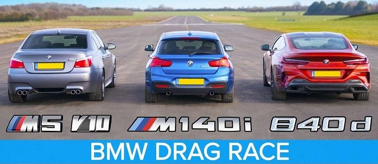 BMW E60 M5 vs 840d vs M140i