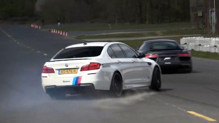 BMW F10 M5 vs ABT Audi R8 V10