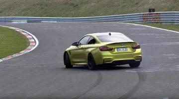 BMW M4 heeft mazzel