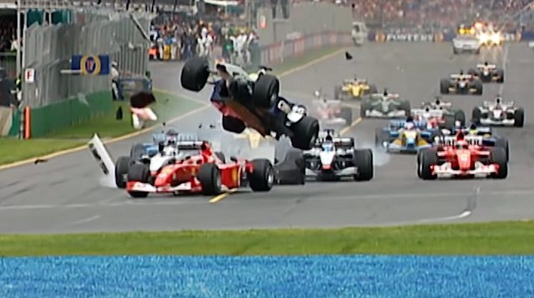 De 10 spectaculairste startcrashes in Formule 1