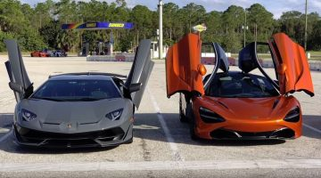 McLaren 720S vs Lamborghini Aventador SVJ