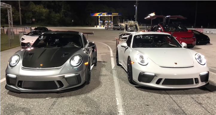 Porsche GT3 RS vs GT3 drag Racing 1/4 mile
