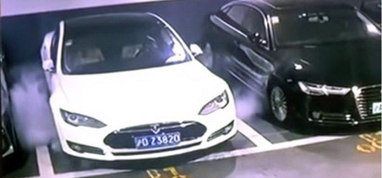 Tesla Model 3 doet aan zelfontbranding in Shanghai