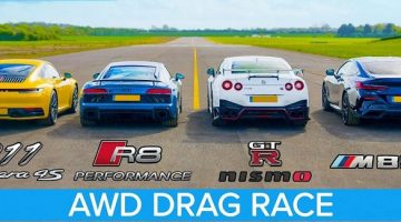 911 Carrera 4S vs NISMO GT-R vs R8 V10 Performance vs M850i