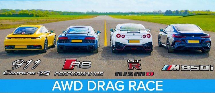 911 Carrera 4S vs NISMO GT-R vs R8 V10 Performance vs M850i