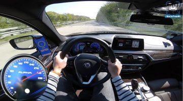 Alpina B5 Touring kanlt naar 303 kmh op Autobahn