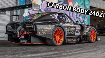 Deze Datsun 240Z Time Attack heeft een volledig carbon carrosserie
