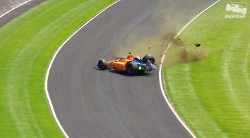 Fernado Alonso Crash Indy 500