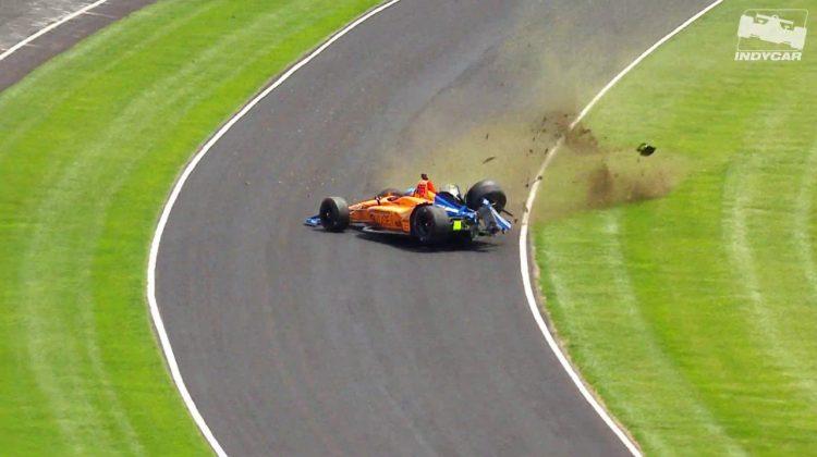 Fernado Alonso Crash Indy 500