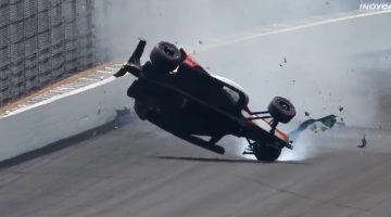 Patricio O'Ward crash Indianapolis