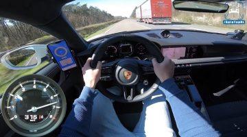 Porsche 992 Carrera 4S haalt 316 kmh