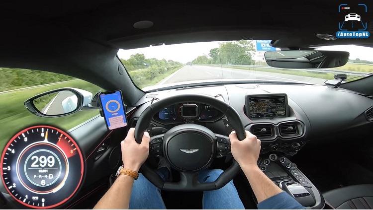 Aston Martin V8 Vantage topsnelheid