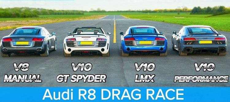 Audi R8 dragrace