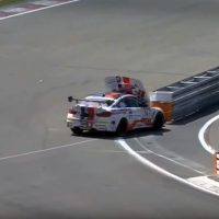 BMW M4 GT4 Crash 24J Nürburgring