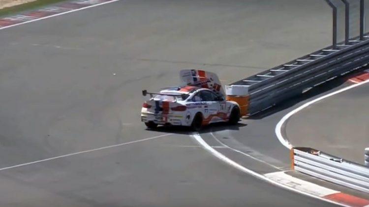 BMW M4 GT4 Crash 24J Nürburgring