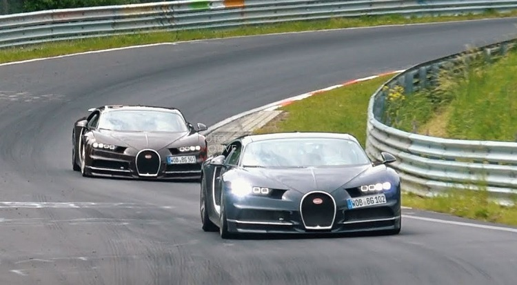 Bugatti test twee Chiron's op de Nürburgring
