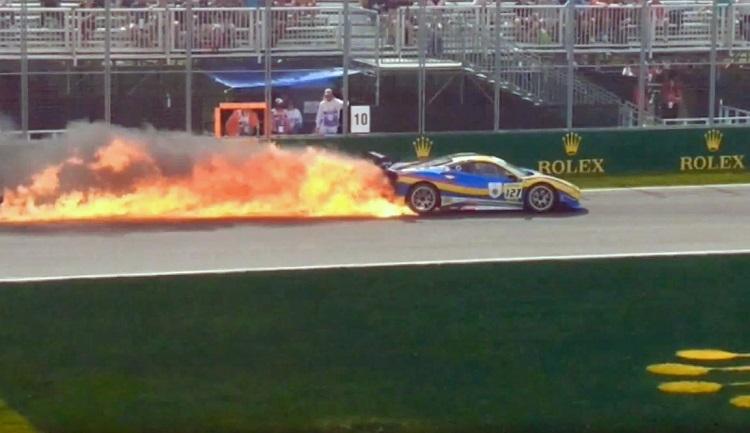 Ferrari Challenge crash Montreal