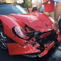 Ferrari F50 crash