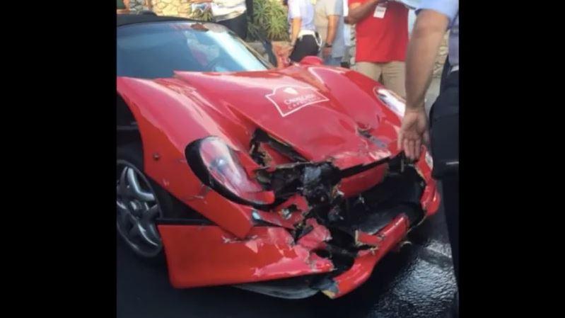 Ferrari F50 crash