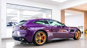 Jay Kay Ferrari GTC4Lusso is Paars