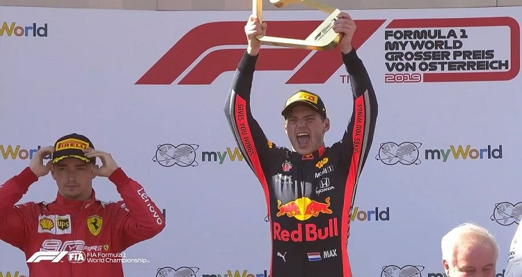 Max Verstappen wint Grand Prix van Oostenrijk 2019!
