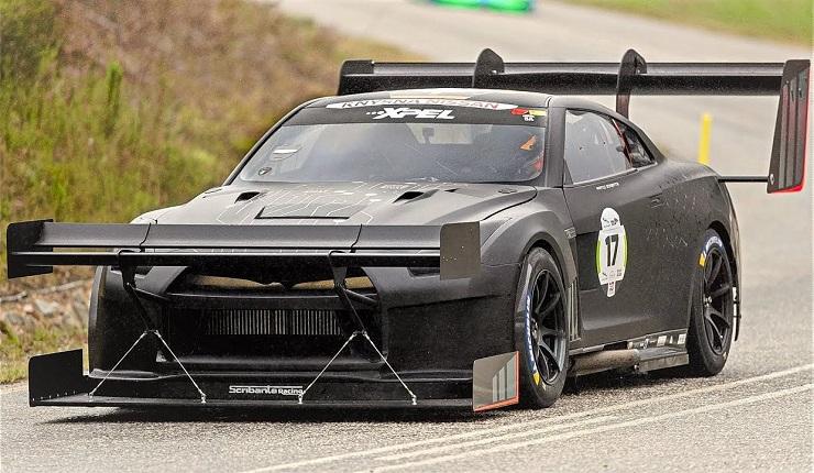 Nissan R35 GT-R pakt record op Simola HillClimb