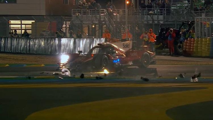 crash tussen Dragonspeed LMP2 en Toyota LMP1