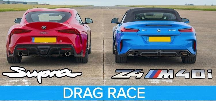 Dragrace tussen de nieuwe Toyota Supra en BMW Z4
