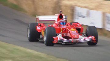 Ferrari F2004 heeft het mooiste geluid van Goodwood
