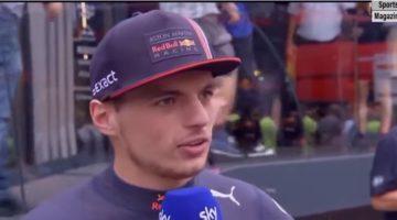 Interview Max Verstappen na zege GP Duitsland