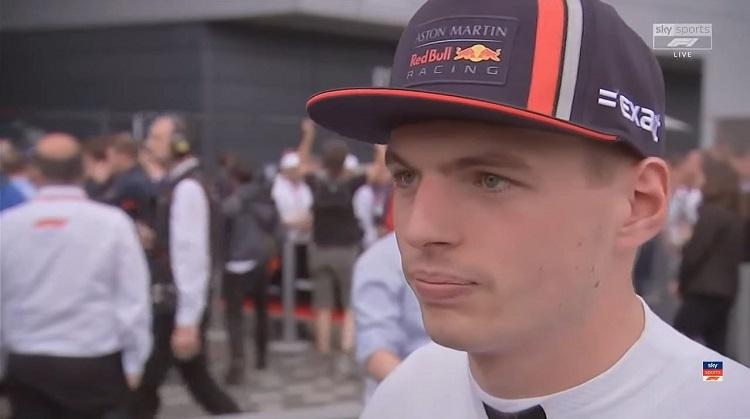 Max praat met Sky Sports na enerverende Britse GP
