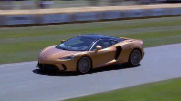 McLaren GT in actie op Goodwood
