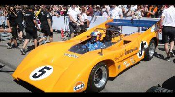 Norris en Sainz proeven aan brute McLaren M8D Can-Am