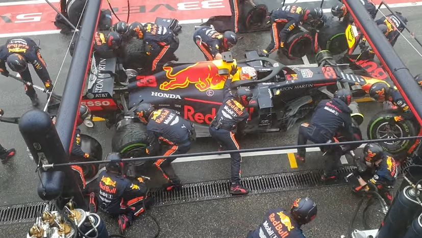 Red Bull's pitstop van 1.88 sec vanuit alle hoeken