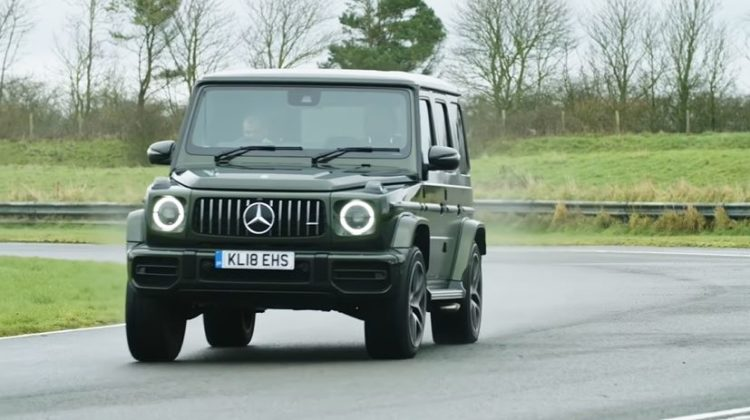 Chris Harris test nieuwe Mercedes-AMG G63
