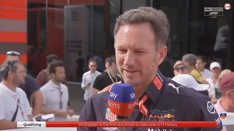 Christian Horner interview GP Hongarije