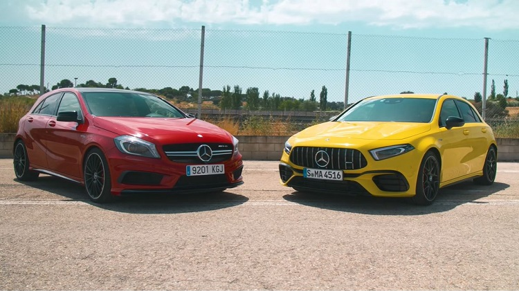 Nieuwe Mercedes-AMG A45 S vs oude AMG A45