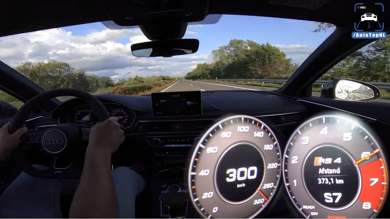 Audi RS4 B9 300 kmh