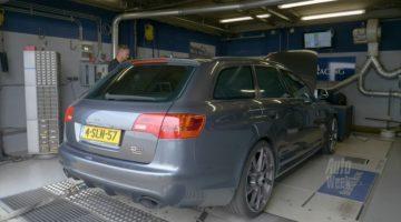 Audi RS6 V10 op de rollenbank