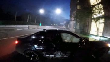 BMW M3 crasht in Stockholm