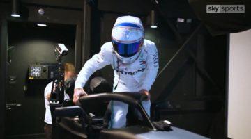 Sky Sports achter de schermen bij de simulator van Mercedes