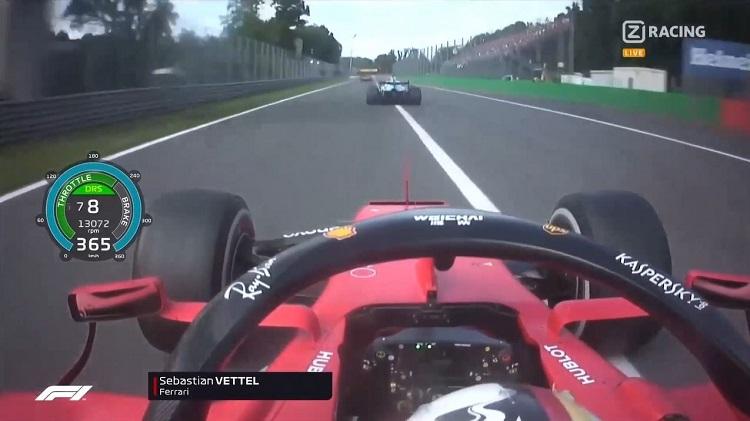 Vettel haalde 365 kmh met de Ferrari SF90 op Monza