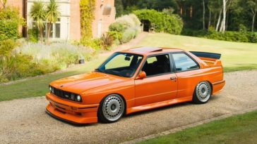 370 pk BMW E30 M3 met Bugatti-velgen