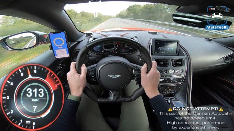 Aston Martin DBS Superleggera vlamt naar 325 kmh