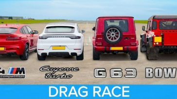 BMW X4M vs AMG G63 vs Cayenne Turbo vs Bowler Bulldog V8