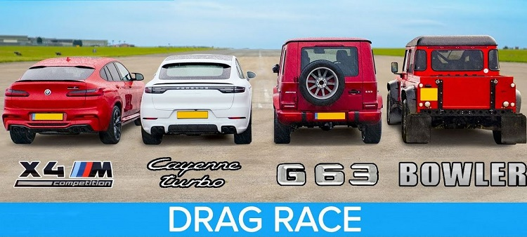 BMW X4M vs AMG G63 vs Cayenne Turbo vs Bowler Bulldog V8